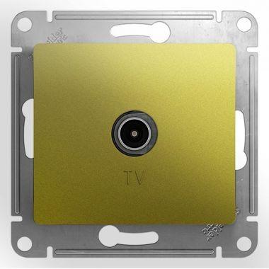 TV  Розетка простая  механизм Glossa, фисташковый Schneider Electric
