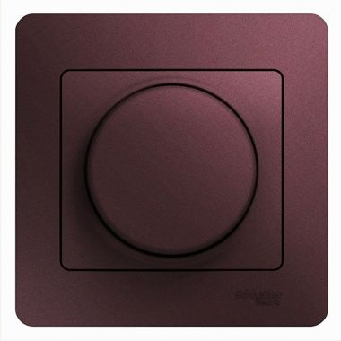 Светорегулятор (диммер) LED, RC, 630Вт/ВА в сборе Glossa, баклажановый Schneider Electric