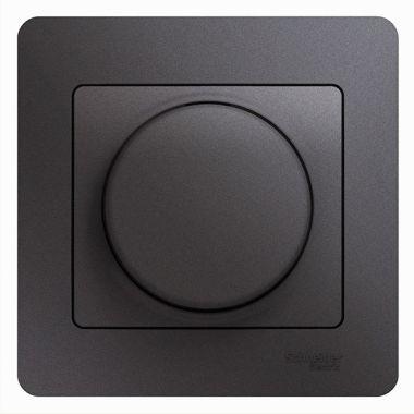 Светорегулятор (диммер) LED, RC, 630Вт/ВА в сборе Glossa, графит Schneider Electric