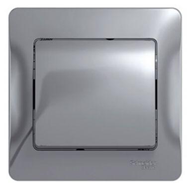 Одноклавишный выключатель 10А в сборе Glossa, алюминий Schneider Electric