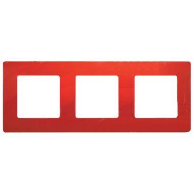 Рамка Etika 3 поста, красный Legrand