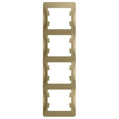 Рамка Glossa 4-постовая, вертикальная, титан Schneider Electric