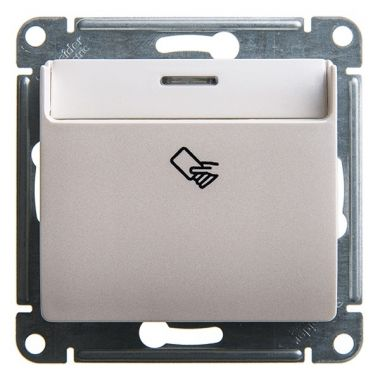 Карточный выключатель  механизм Glossa, перламутр Schneider Electric