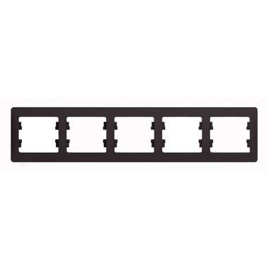 Рамка Glossa 5-постовая, горизонтальная, шоколад Schneider Electric