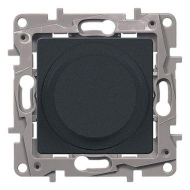 Светорегулятор поворотный Etika 300W без нейтрали, антрацит Legrand