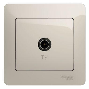 Розетка TV коннектор в сборе Glossa, молочный Schneider Electric