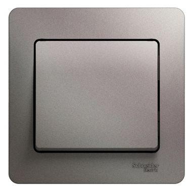 Выключатель 1-клавишный 10A в сборе Glossa, платина Schneider Electric