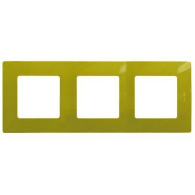 Рамка Etika 3 поста, зеленый папоротник Legrand