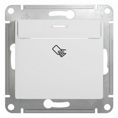 Карточный выключатель  механизм Glossa, белый Schneider Electric