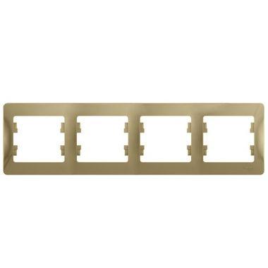 Рамка Glossa 4-постовая, горизонтальная, титан Schneider Electric