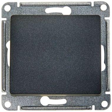 Переключатель 1-клавишный 10А механизм Glossa, антрацит Schneider Electric
