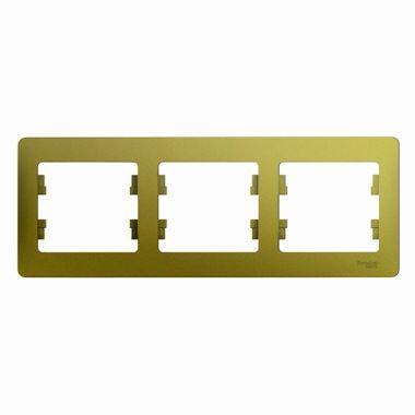 Рамка Glossa 3-постовая, горизонтальная, фисташковый Schneider Electric