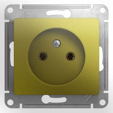 Розетка без заземления 16А механизм Glossa, фисташковый Schneider Electric