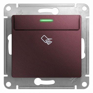 Карточный выключатель механизм Glossa, баклажановый Schneider Electric