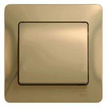 Выключатель 1-клавишный 10А в сборе Glossa, титан Schneider Electric