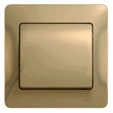 Одноклавишный выключатель 10А в сборе Glossa, титан Schneider Electric