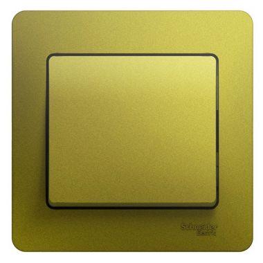 Выключатель 1-клавишный 10А в сборе Glossa, фисташковый Schneider Electric