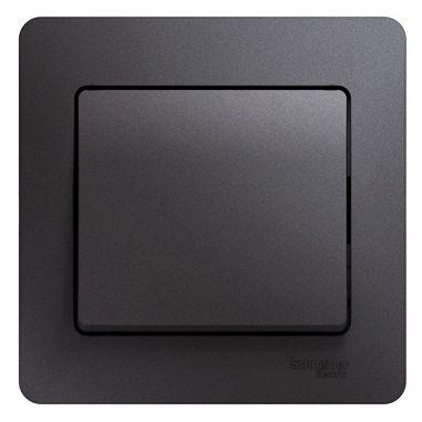 Одноклавишный выключатель 10A в сборе Glossa, графит Schneider Electric
