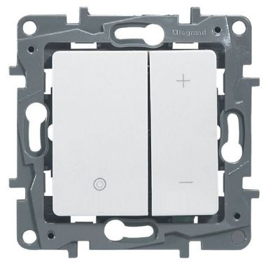 Светорегулятор нажимной Etika 400W, белый Legrand