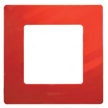 Рамка Etika 1 пост, красный Legrand
