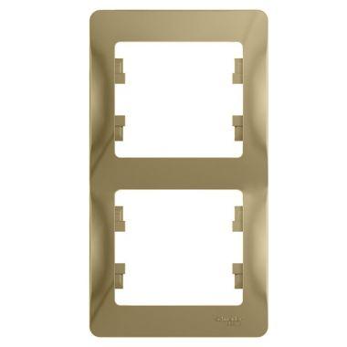 Рамка Glossa 2-постовая, вертикальная, титан Schneider Electric
