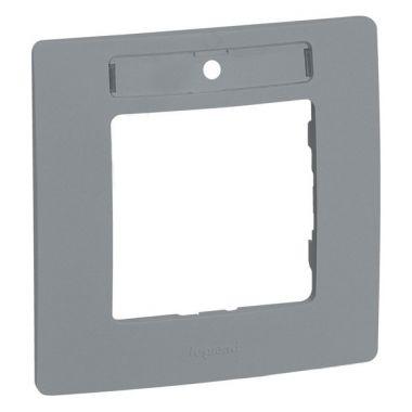 Рамка с держателем для маркировки Etika 1 пост, алюминий Legrand