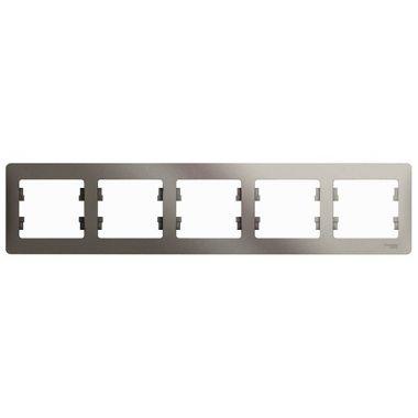 Рамка Glossa 5-постовая, горизонтальная, платина Schneider Electric
