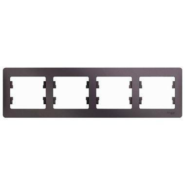 Рамка Glossa 4-постовая, горизонтальная, сиреневый туман Schneider Electric