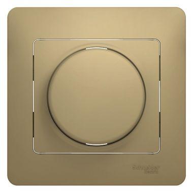 Светорегулятор (диммер) LED, RC, 630Вт/ВА в сборе Glossa, титан Schneider Electric
