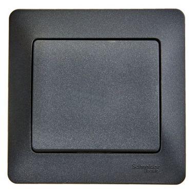 Выключатель 1-клавишный 10А в сборе Glossa, антрацит Schneider Electric