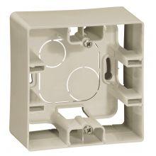 Коробка Etika 1 пост для накладного монтажа, слоновая кость Legrand