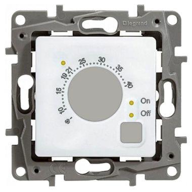 Термостат Etika для теплых полов с датчиком пола, белый Legrand