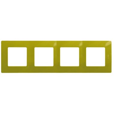 Рамка Etika 4 поста, зеленый папоротник Legrand