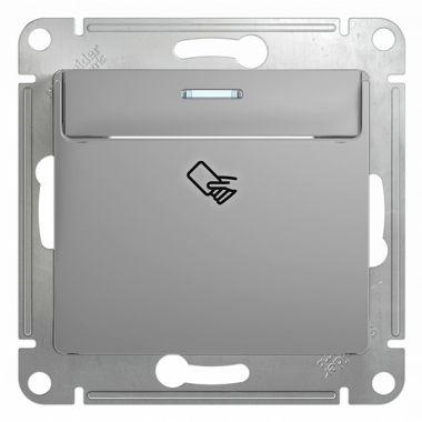 Карточный выключатель  механизм Glossa, алюминий Schneider Electric