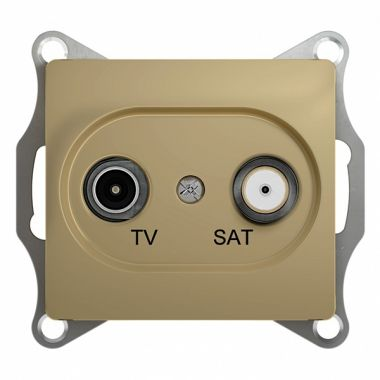 Розетка TV-SAT проходная 4DB механизм Glossa, титан Schneider Electric