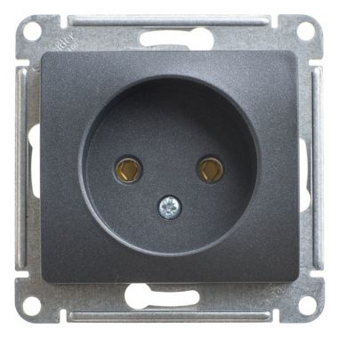 Розетка без заземления 16А механизм Glossa, антрацит Schneider Electric