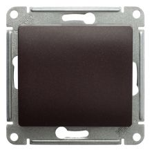 Выключатель 1-клавишный 10А механизм Glossa, шоколад Schneider Electric