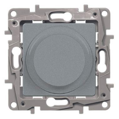 Светорегулятор поворотный Etika 300W без нейтрали, алюминий Legrand