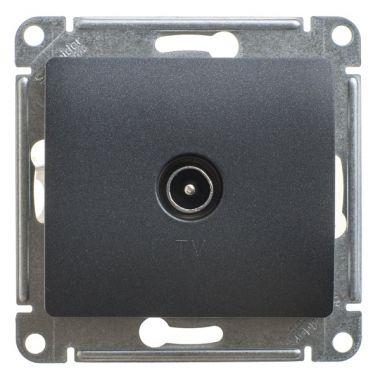 Розетка TV простая механизм Glossa, антрацит Schneider Electric