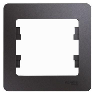 Рамка Glossa 1-постовая, графит Schneider Electric
