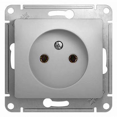 Розетка без заземления 16А механизм Glossa, алюминий Schneider Electric