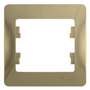 Рамка Glossa 1-постовая, титан Schneider Electric