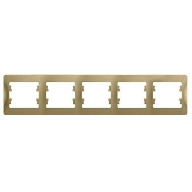 Рамка Glossa 5-постовая, горизонтальная, титан Schneider Electric