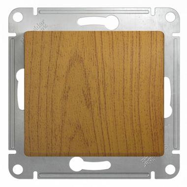 Переключатель 1-клавишный 10А механизм Glossa, дерево дуб Schneider Electric