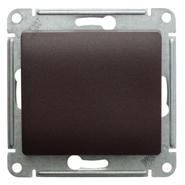 Кнопка 10А механизм Glossa, шоколад Schneider Electric