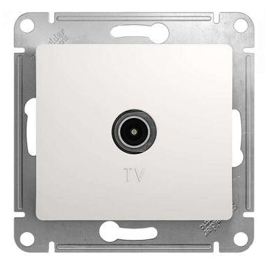 TV розетка простая механизм Glossa, белый Schneider Electric