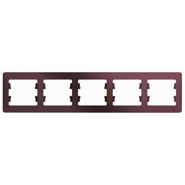 Рамка Glossa 5-постовая, горизонтальная, баклажановый Schneider Electric