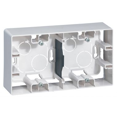 Коробка Etika 2 поста для накладного монтажа, белый Legrand