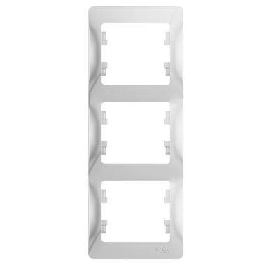 Рамка Glossa 3-постовая, вертикальная, белый Schneider Electric