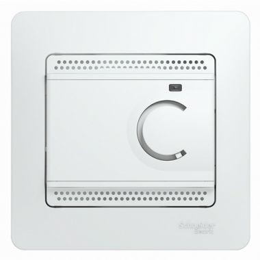 Термостат электронный теплого пола с датчиком от +5 до +50°C 10A в сборе Glossa, белый Schneider Electric